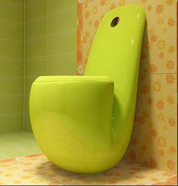 创意马桶装扮你的时尚卫浴间塑料喷嘴